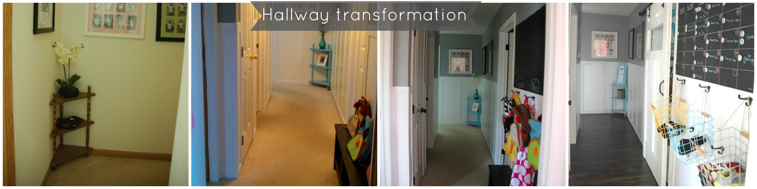 Hallway transformation, DIY wainscoting