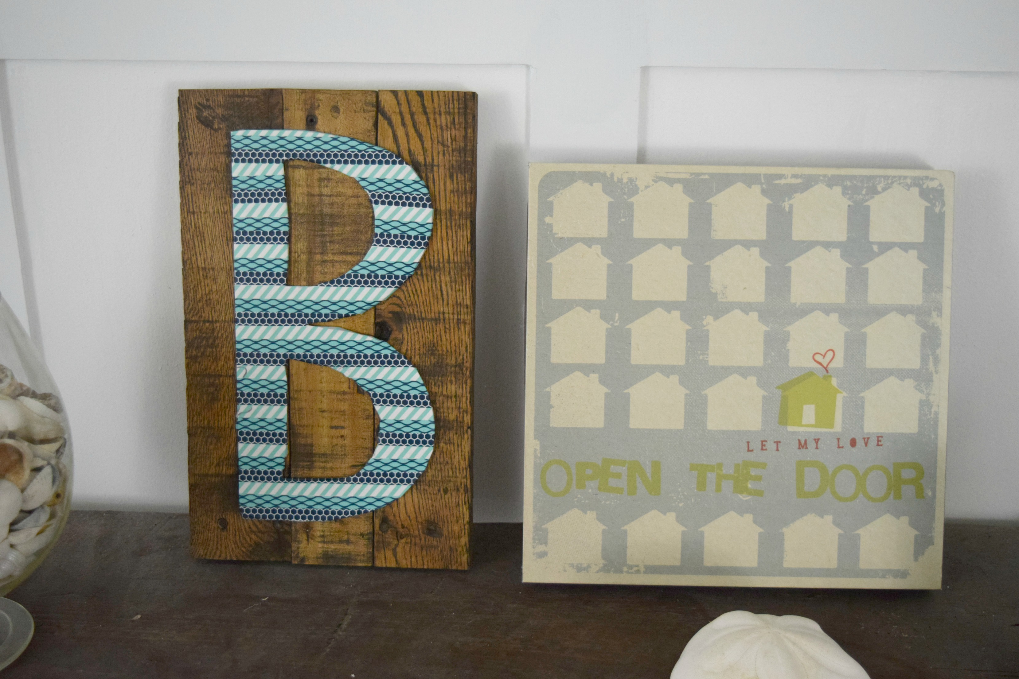 Washi tape letter art
