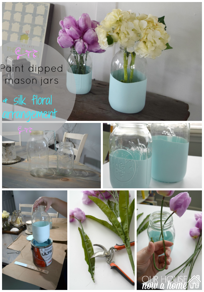 paint dipper mason jar title with WM