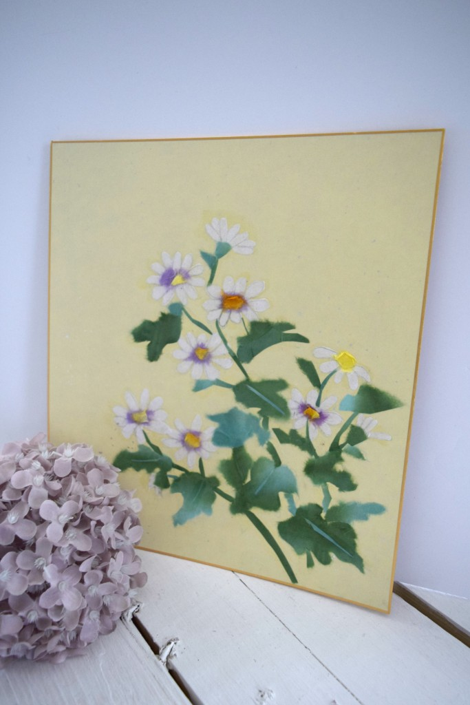 paper painting daisies