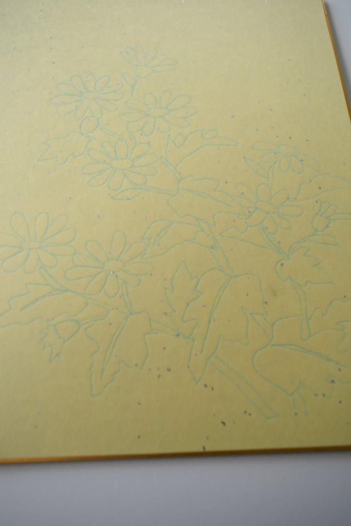 paper painting japanese daisies