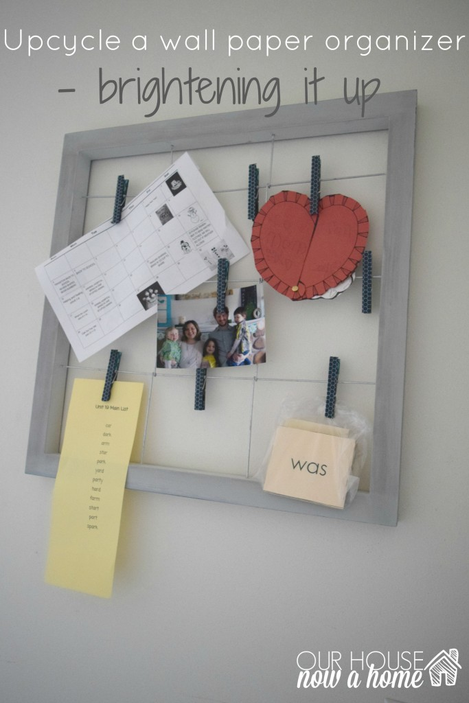 upcycle wall organizer title with WM