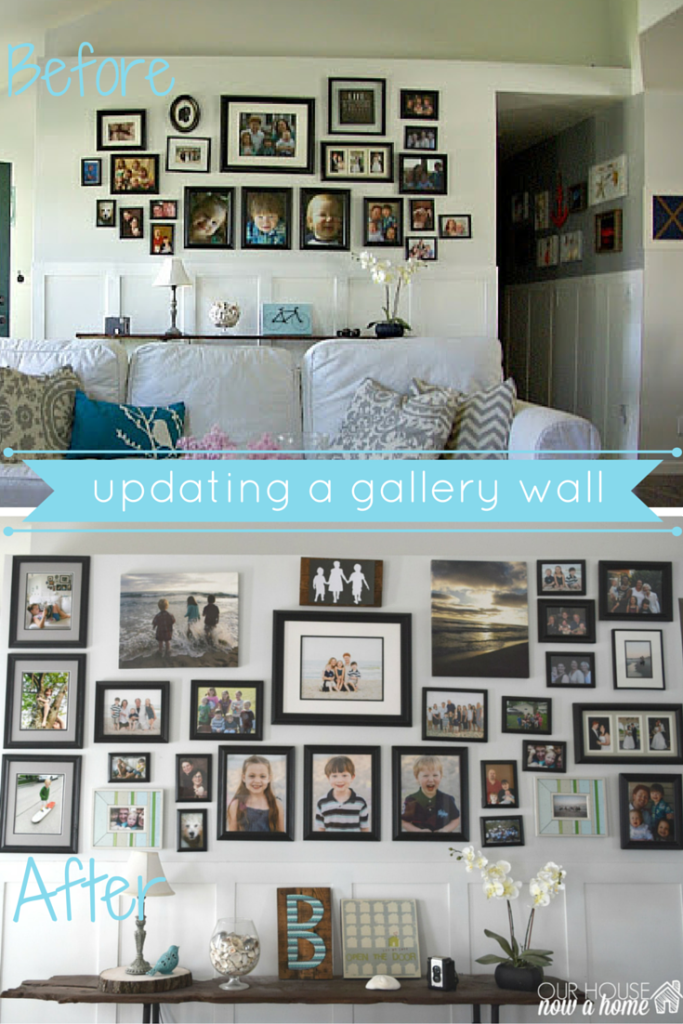 updating gallery wall, before and after. this one (1)