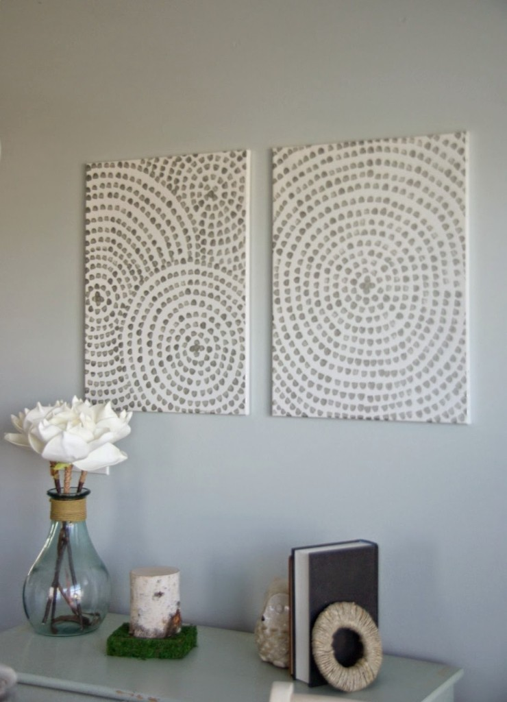Spiral wall art video tutorial giveaway our house now for How to make canvas painting