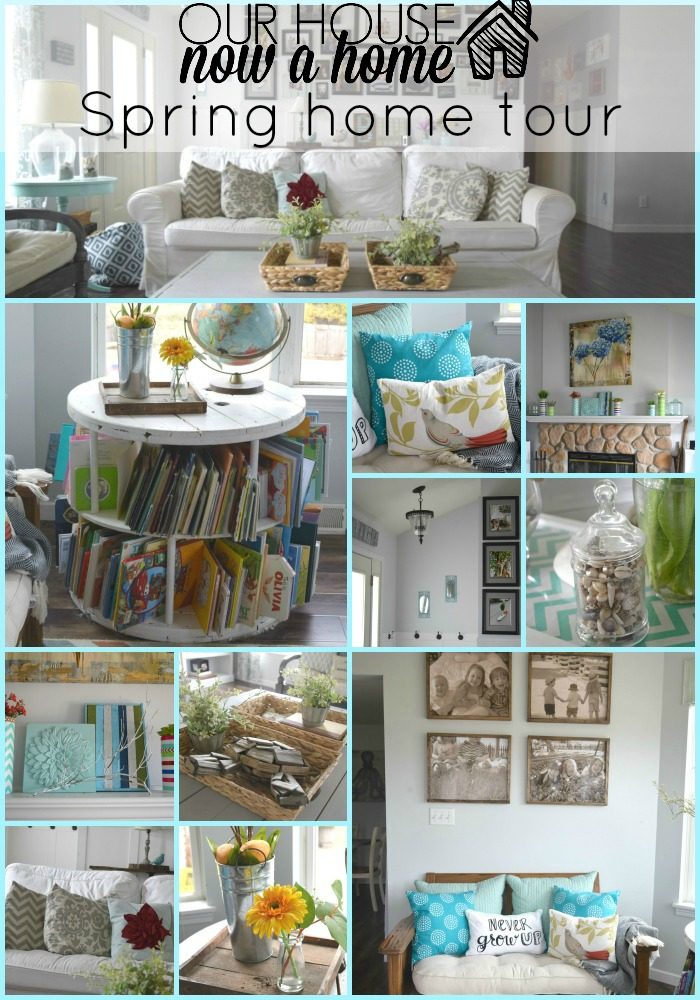 Our house now a home spring home tour collage