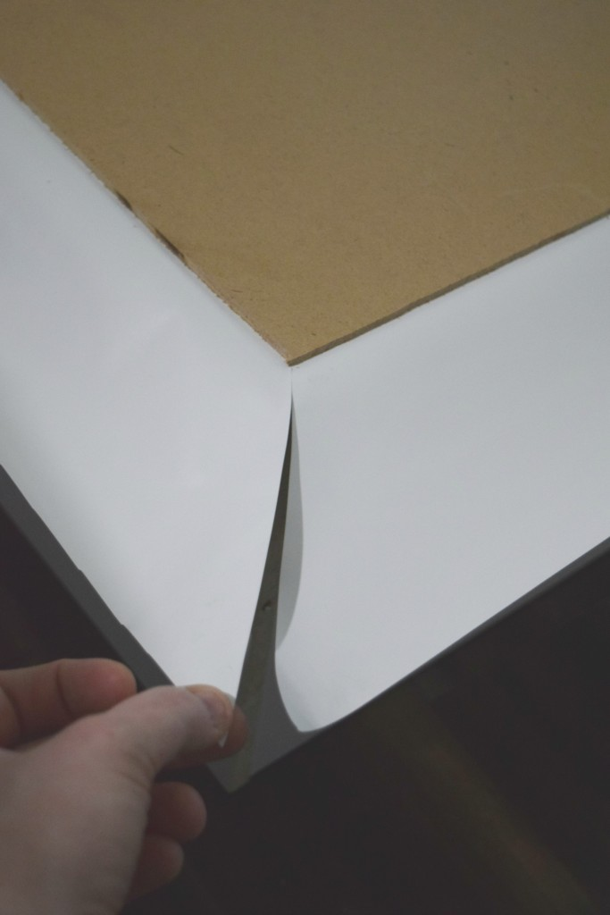 cutting corner of paper