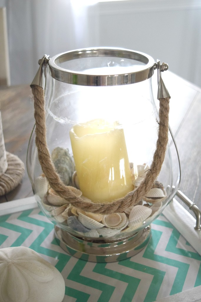 decorating with shells in glass