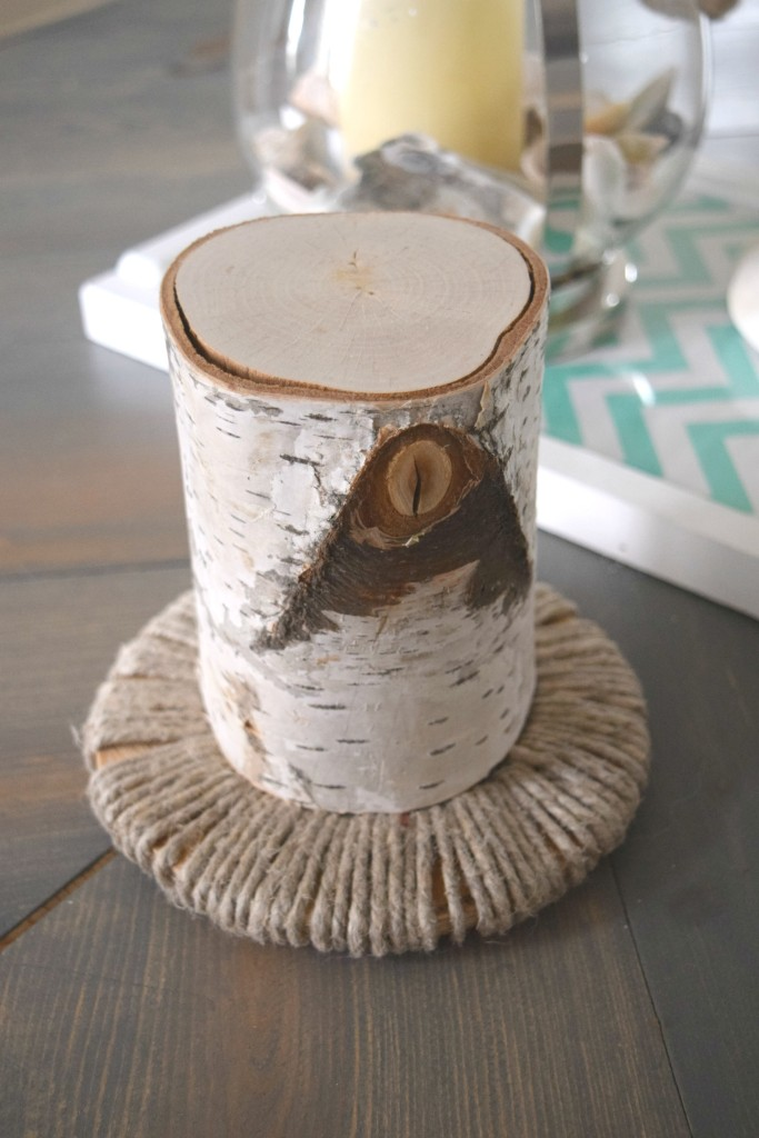 decorating with tree bark