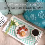 DIY serving tray, interchangeable backing