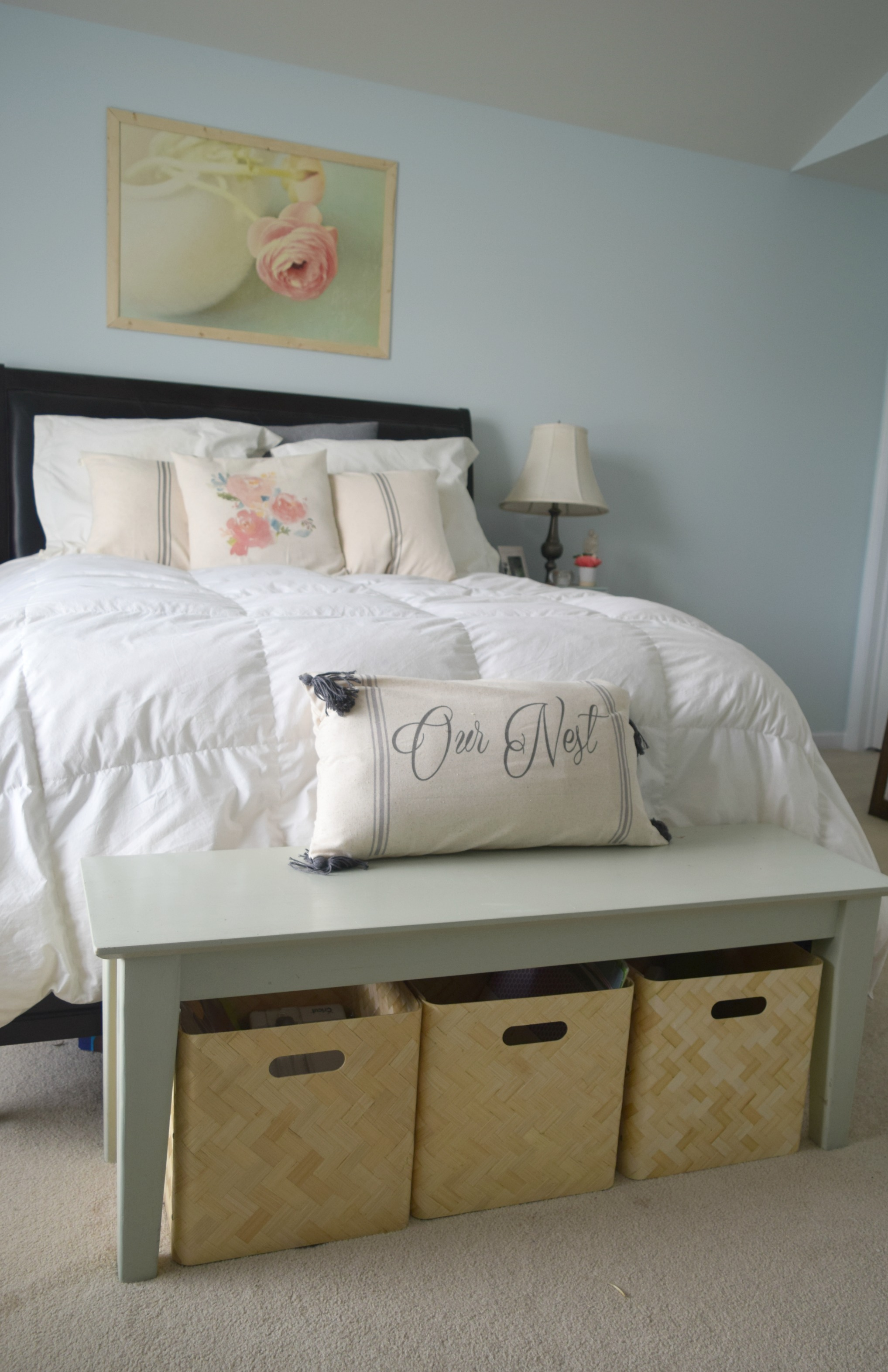 From Junk Room To Beautiful Bedroom The Big Reveal: Bedroom/office/craft Room Reveal • Our House Now A Home