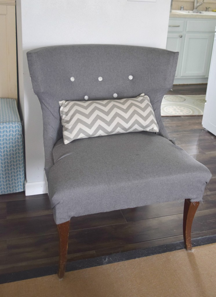 no sew chair reupholster