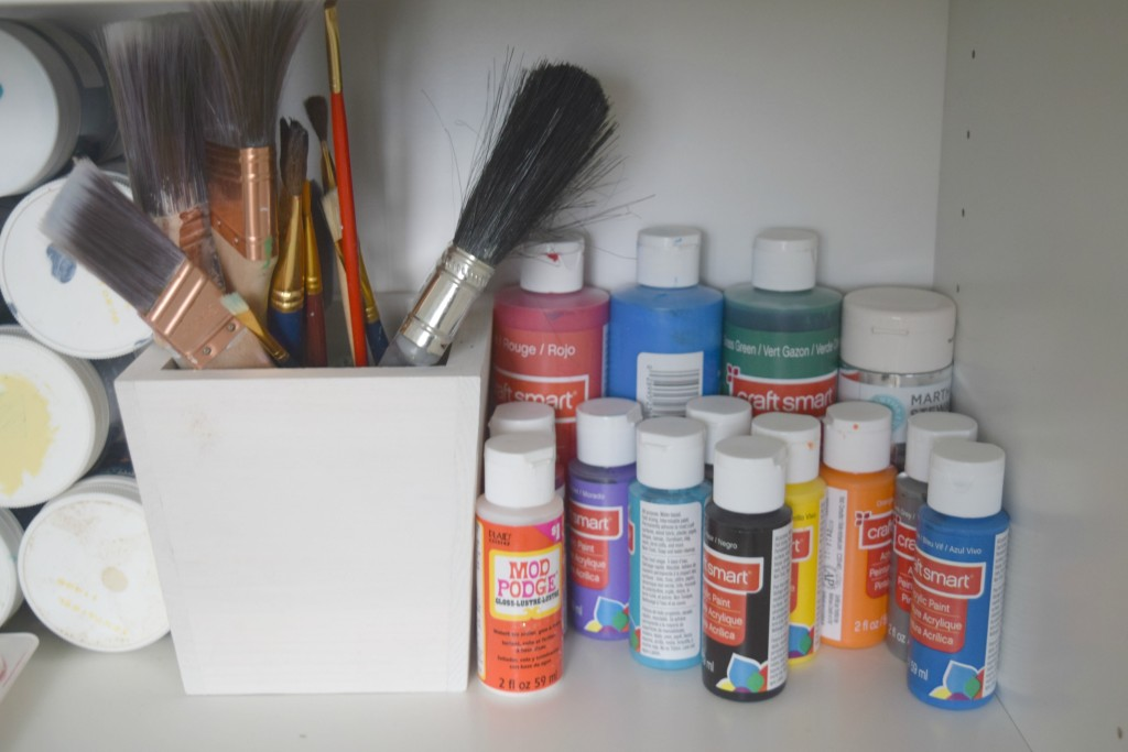 paint supply storage