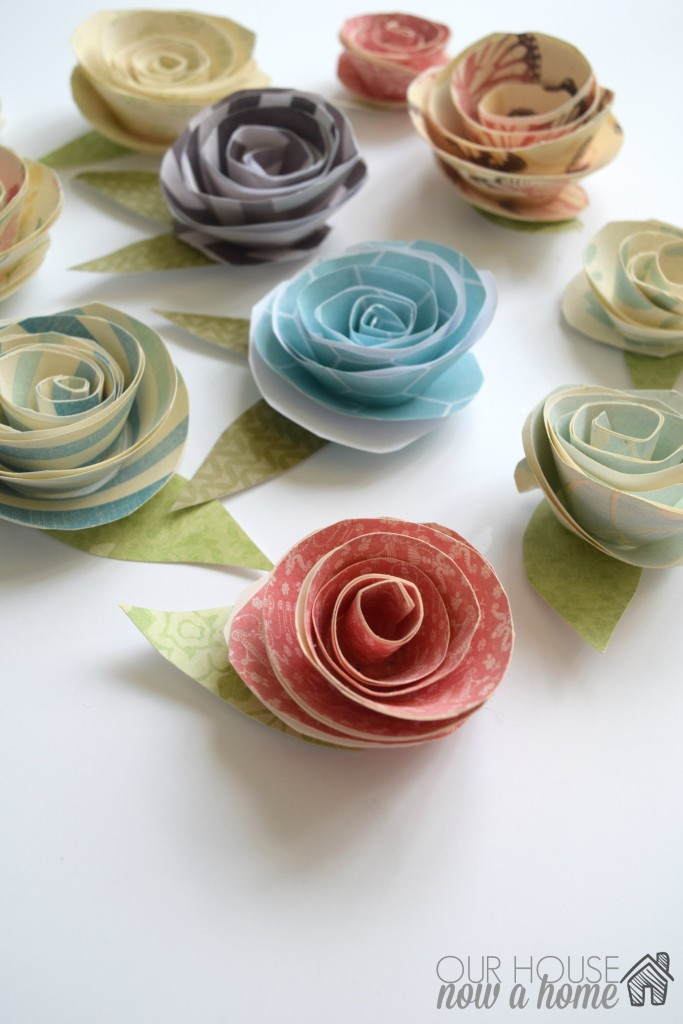 paper flowers with WM
