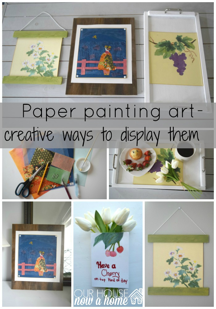 paper painting art collage group