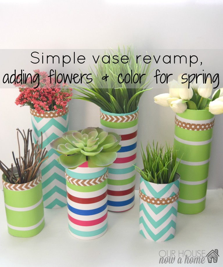 DIY glass vase and wrapping paper