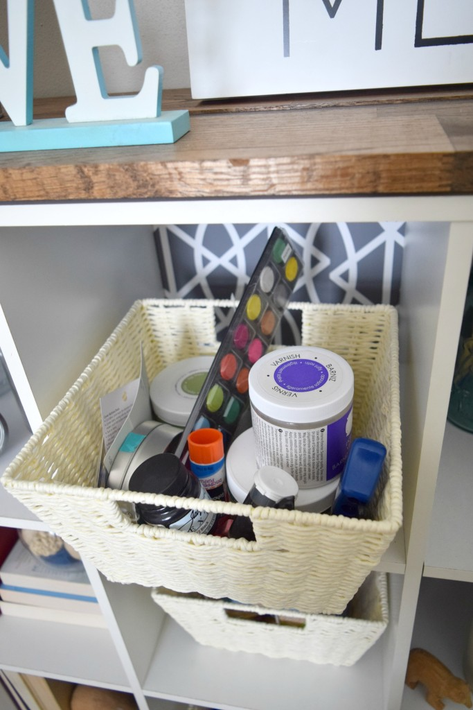 using baskets for storage