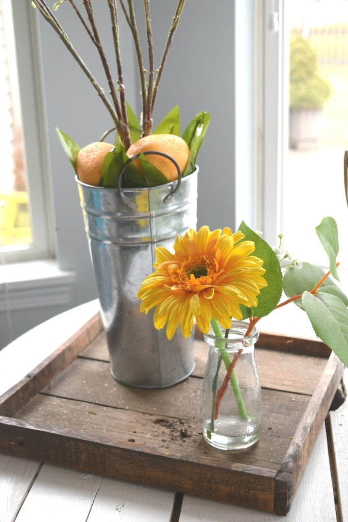 yellow spring floral arrangement