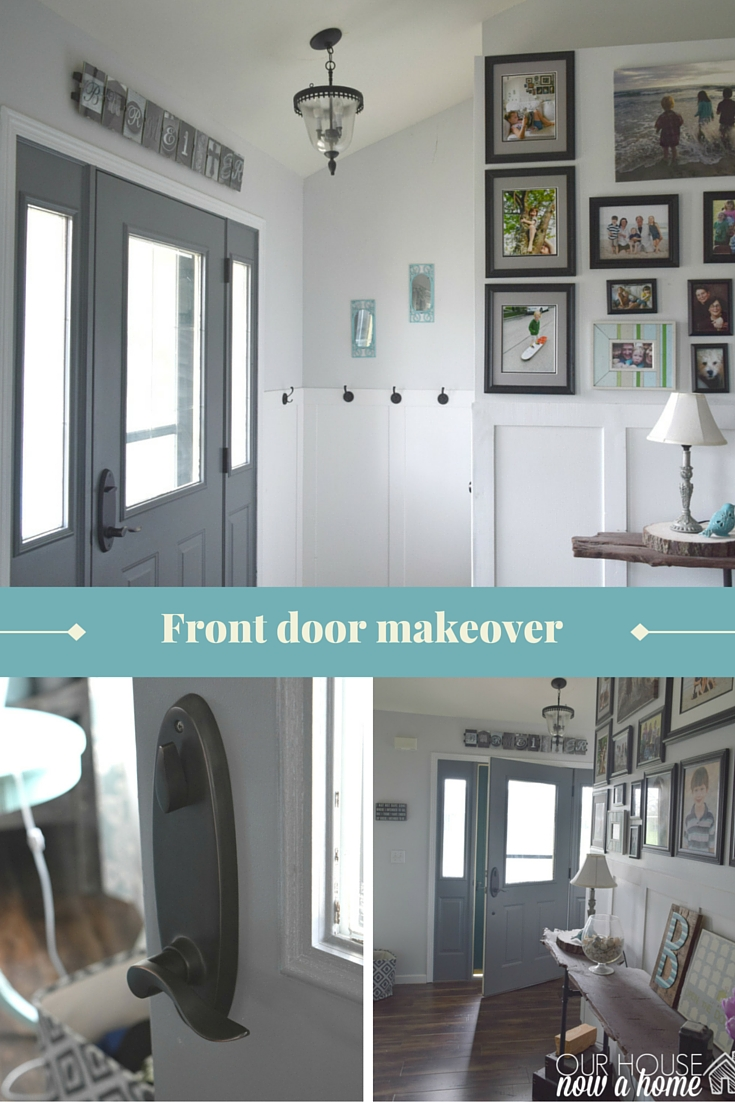 Front door makeover, how to paint • Our House Now a Home
