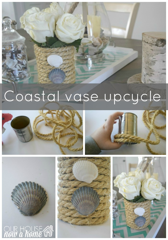 coastal vase upcycle