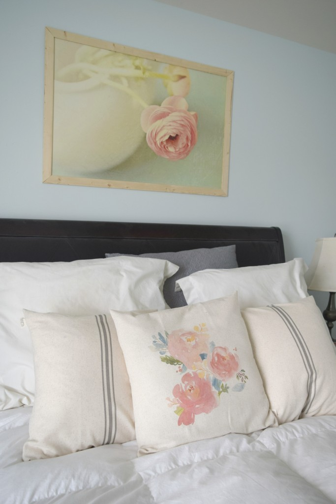 flowers on pillow