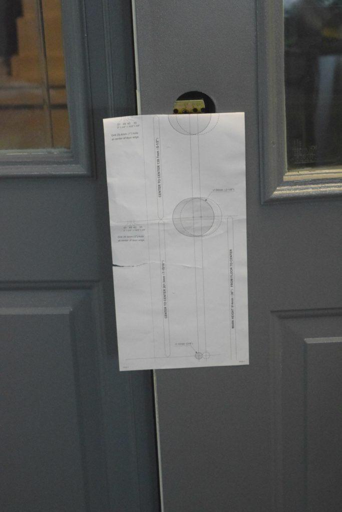 front door hardware template