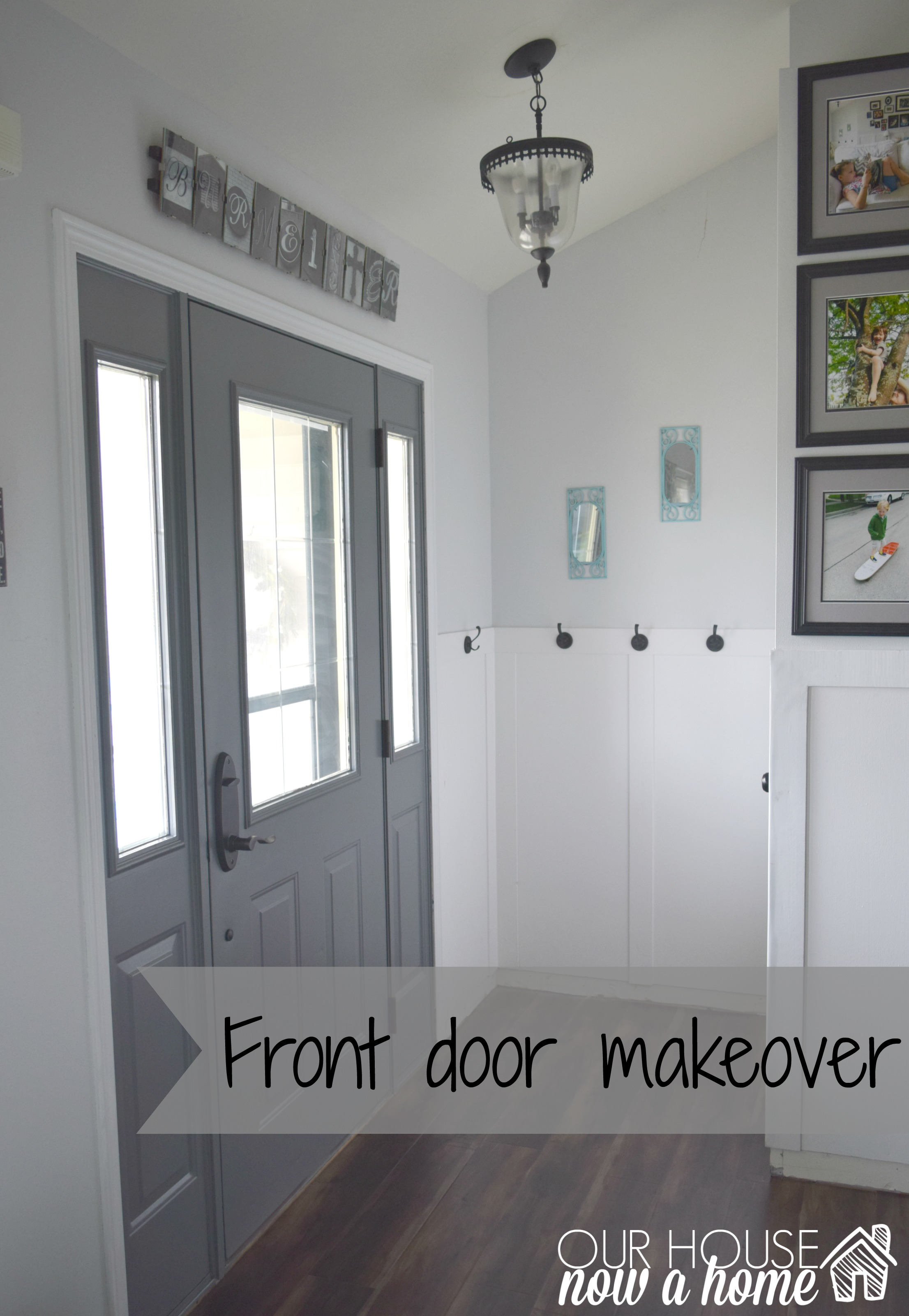 Superbe Front Door Makeover, How To Paint
