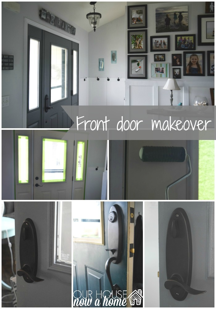 front door makeover collage