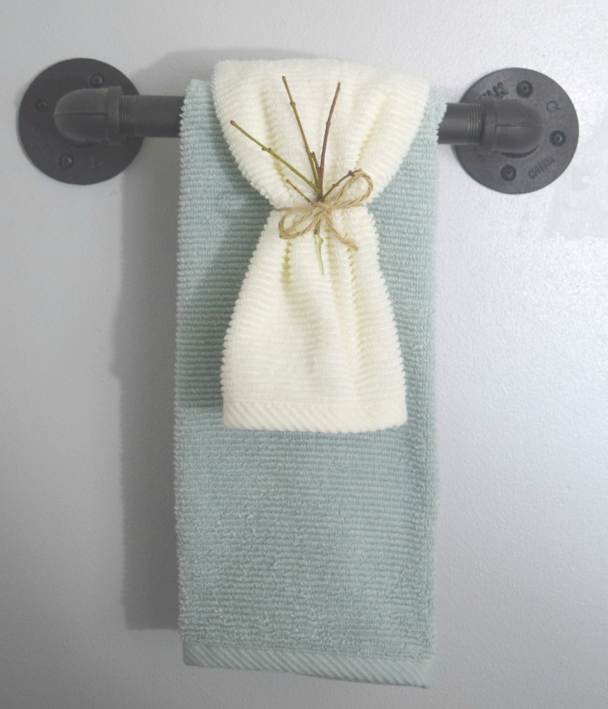 twine towel holder