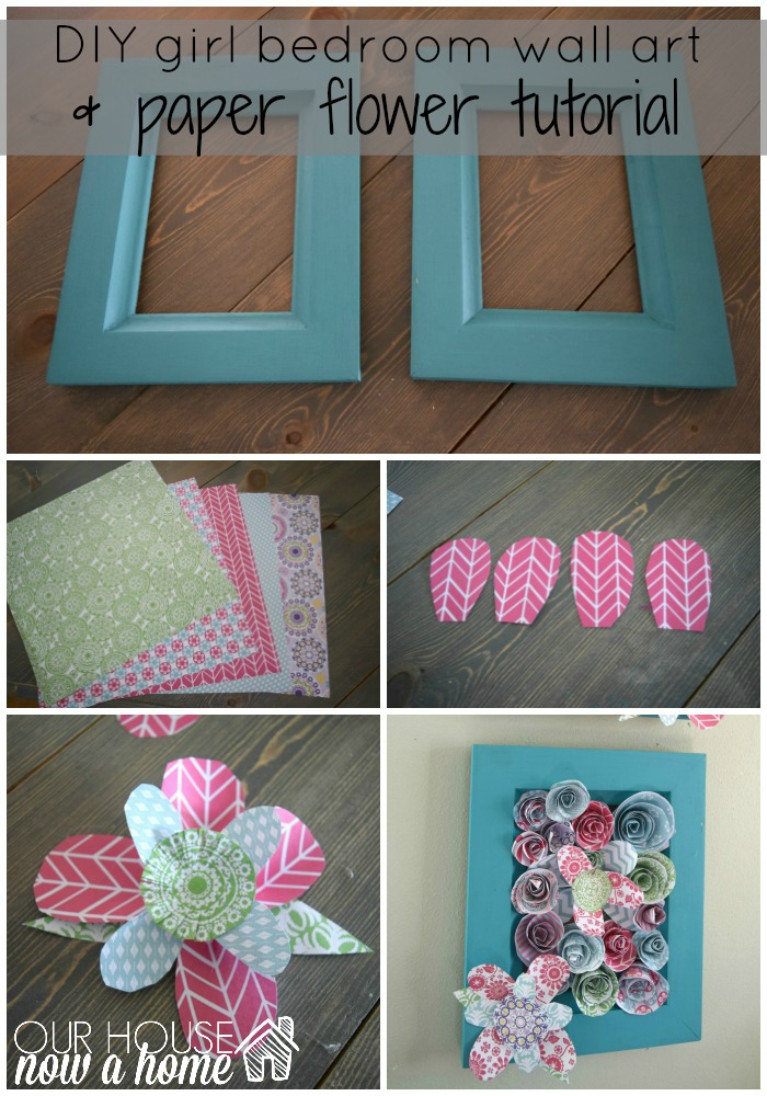 How to make wall art using paper flowers