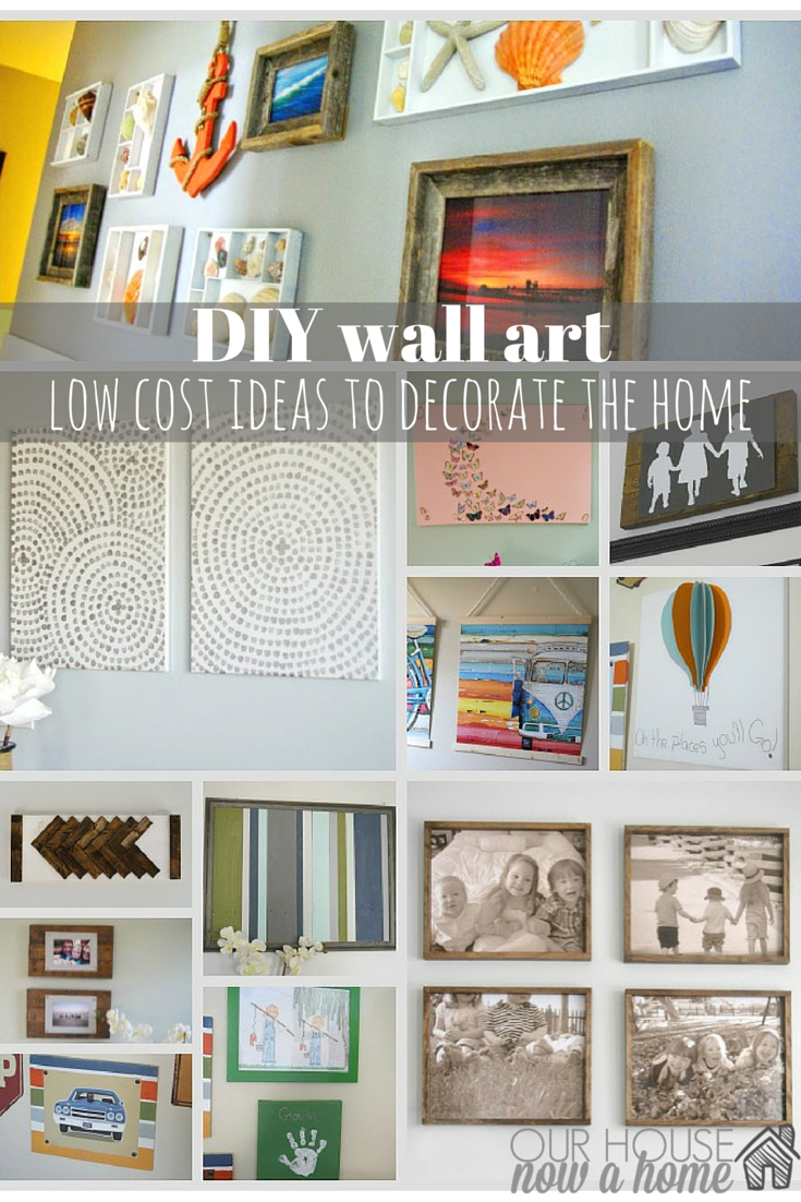 Living Room Ideas For The Home diy wall art ideas for the home our house now a first i am sharing is this coastal gallery made possible because of my hoarding tendencies shell display