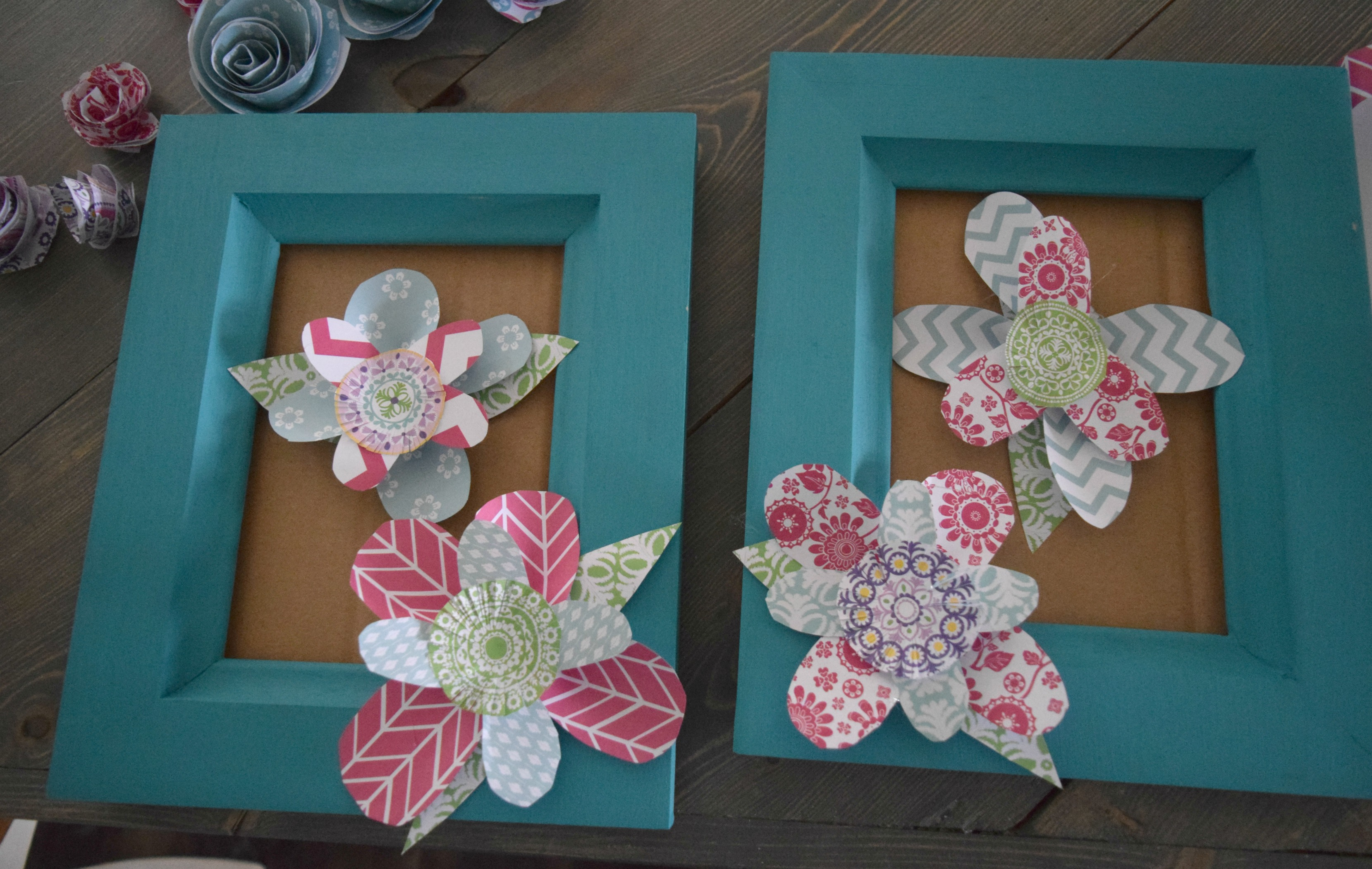 How To Make Wall Art Using Paper Flowers Our House Now A Home