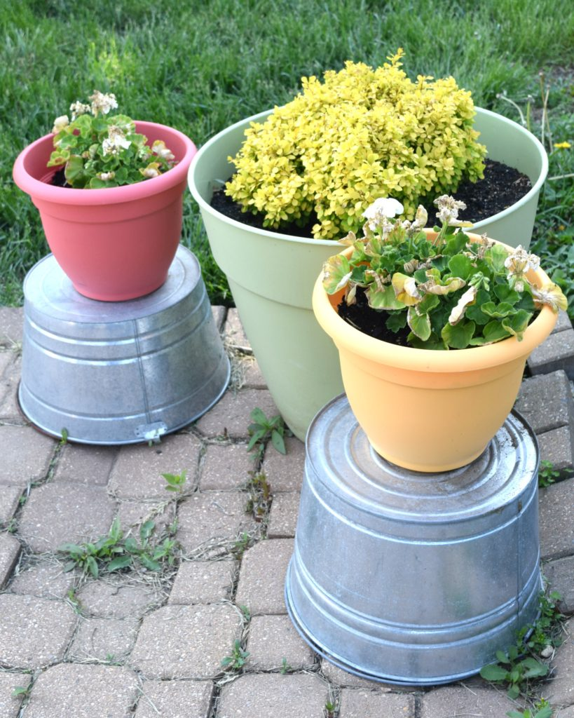 buckets for flower planters