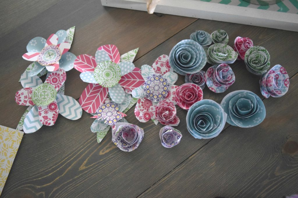group of paper flowers