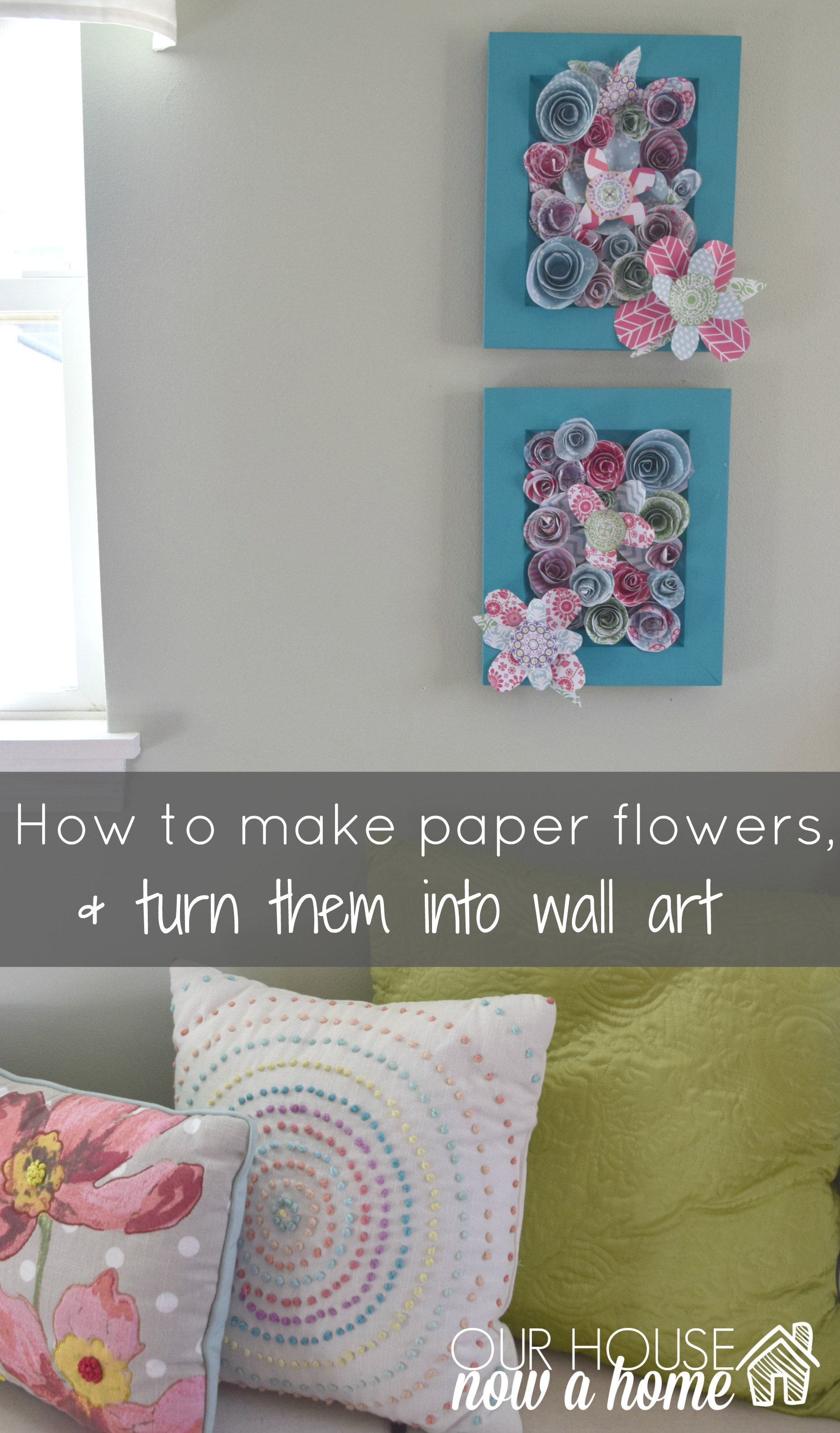 How To Make Wall Decor With Paper : How to make wall art using paper flowers our house now a
