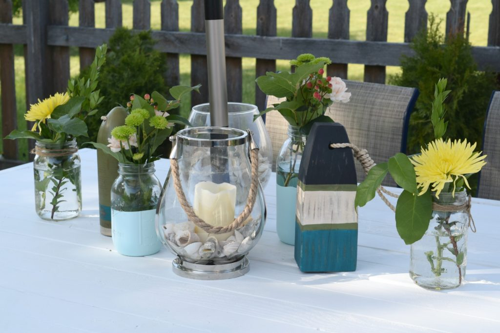 outdoor patio table decor
