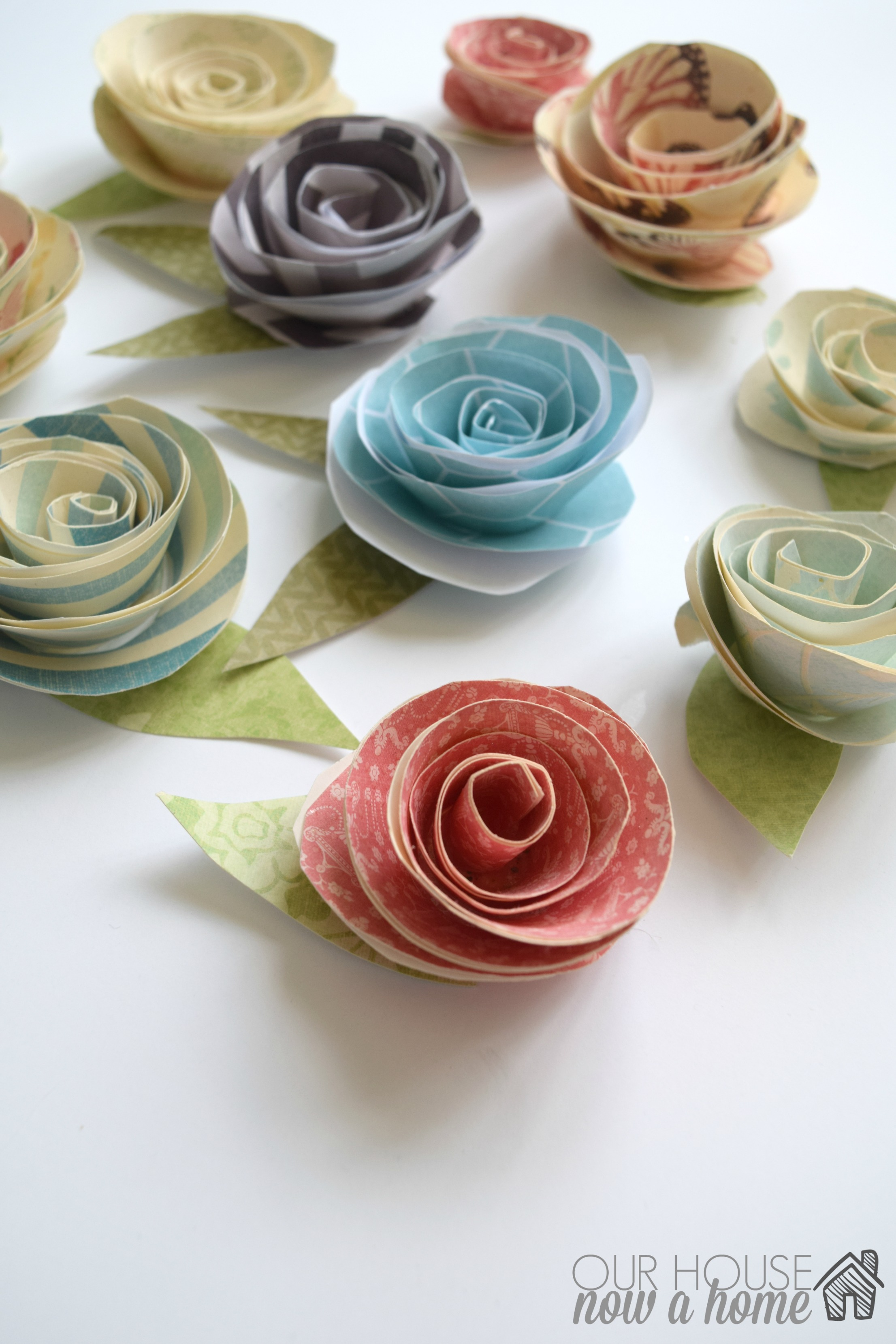 How to make wall art using paper flowers our house now a home paper flowers with wm mightylinksfo