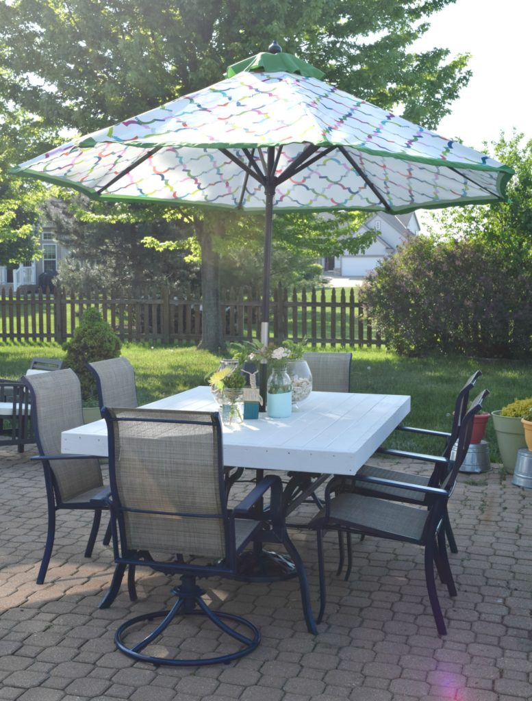 patio table upcycle