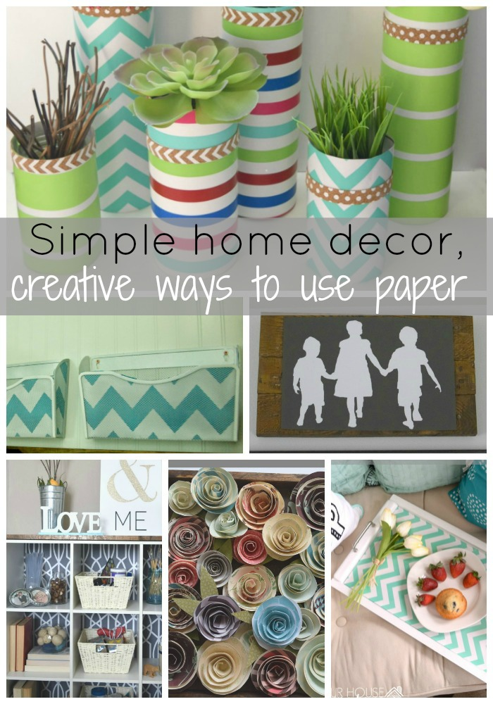 How to make wall art using paper flowers our house now a for Simple home decorations