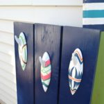 How to camouflage the electric box and make a DIY towel rack