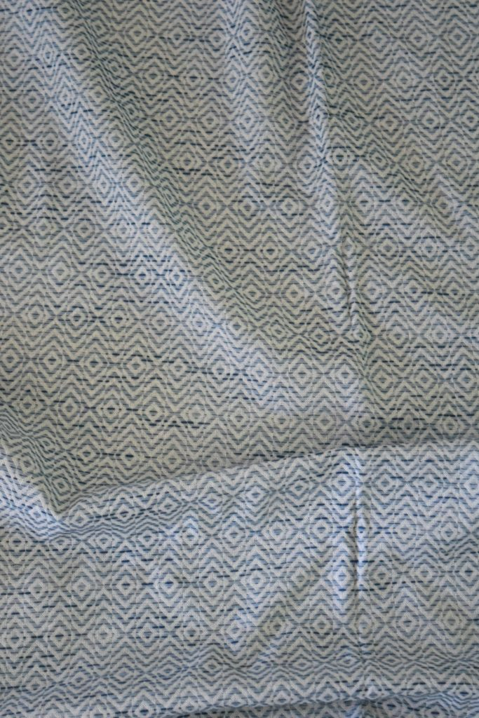 blue pattern fabric