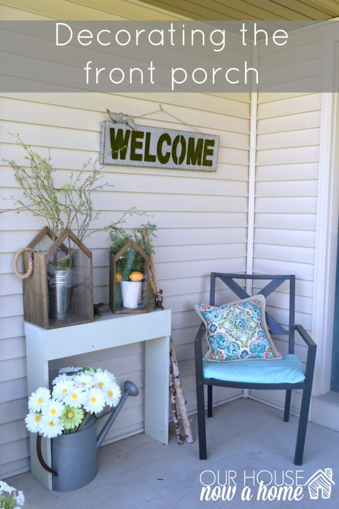 decorating the front porch