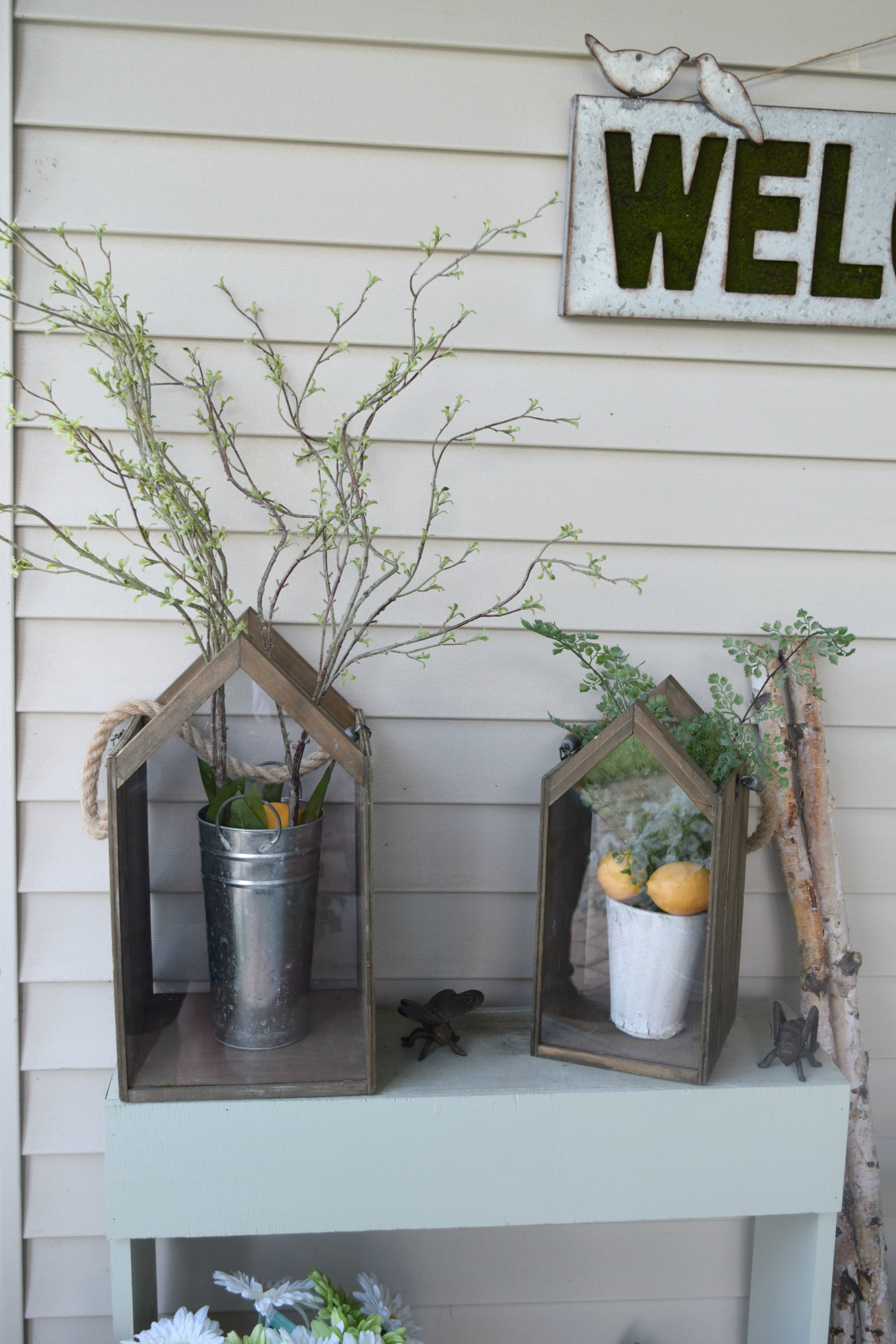 Curb appeal Challenge, adding lights and decor • Our House Now a Home