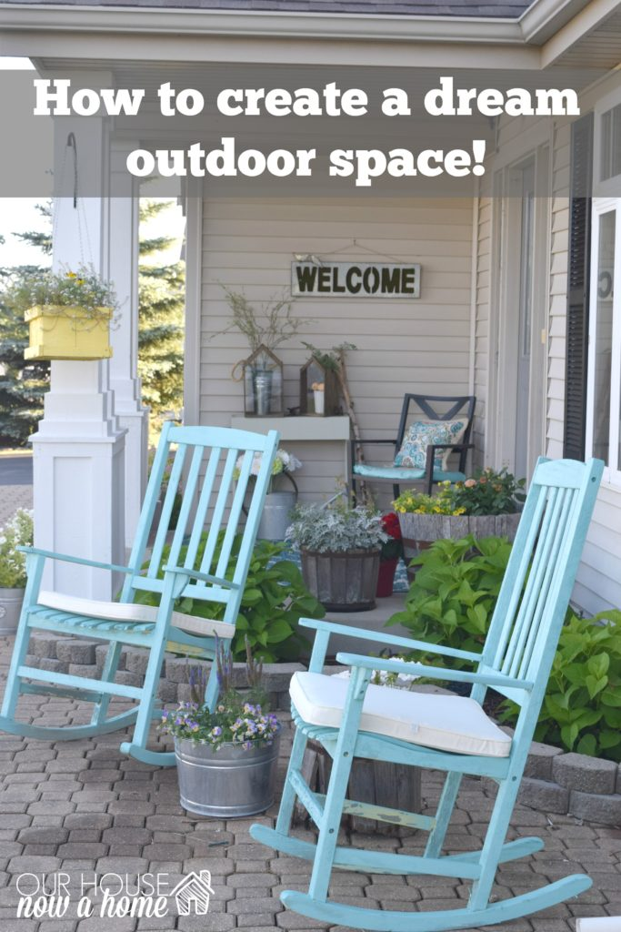 how to create an outdoor space front porch