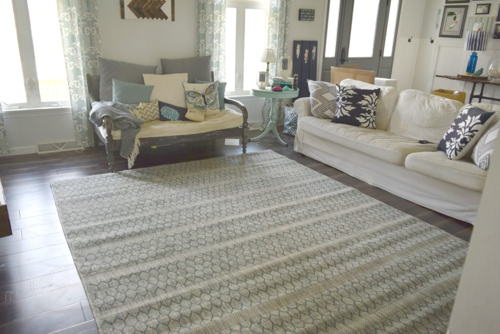 new rug in living room