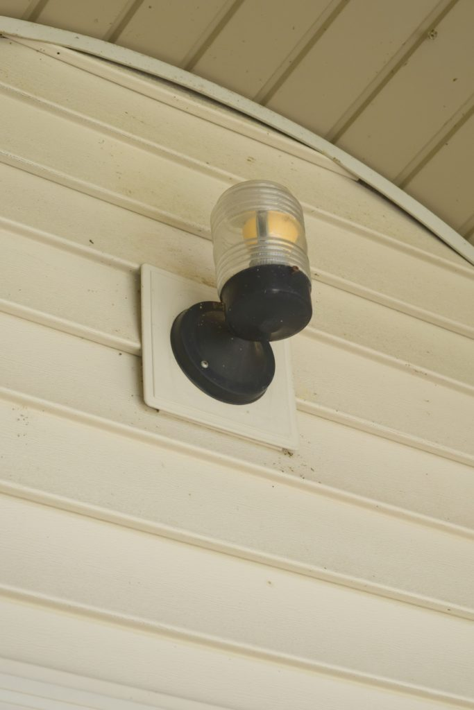 porch light before