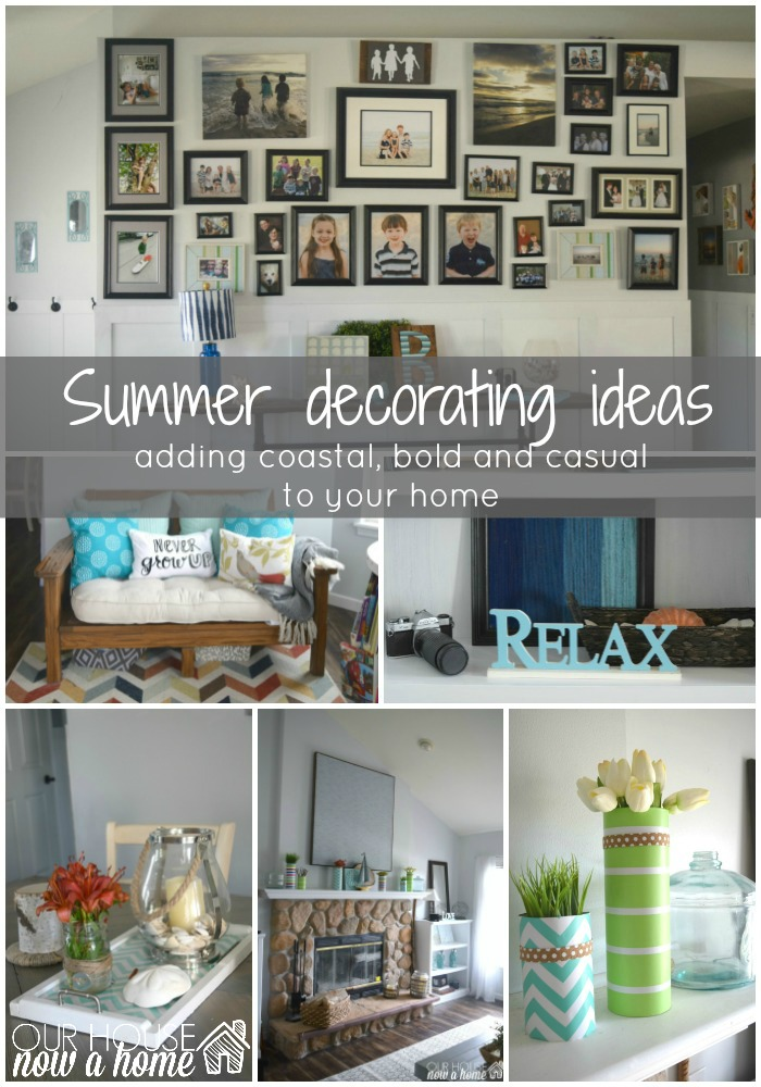 summer decorating idea title