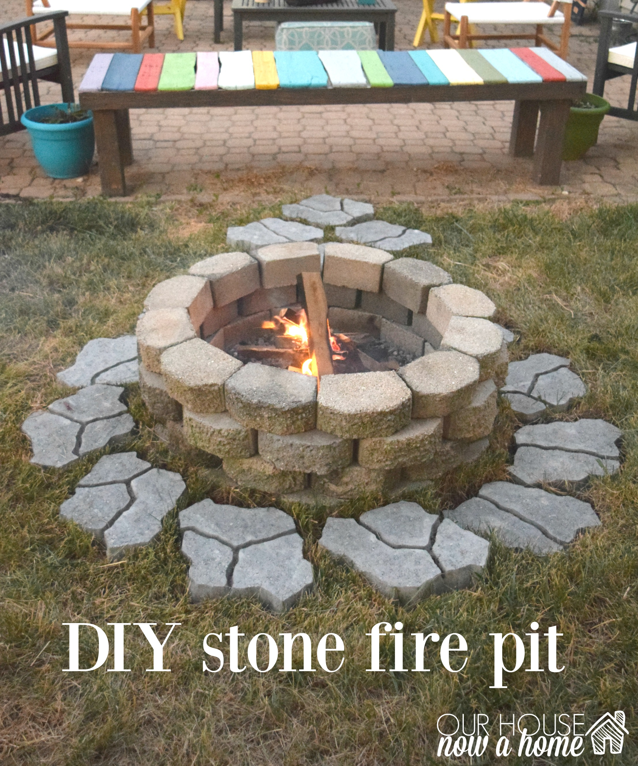 DIY fire pit for the backyard • Our House Now a Home on Diy Outdoor Fire id=31029