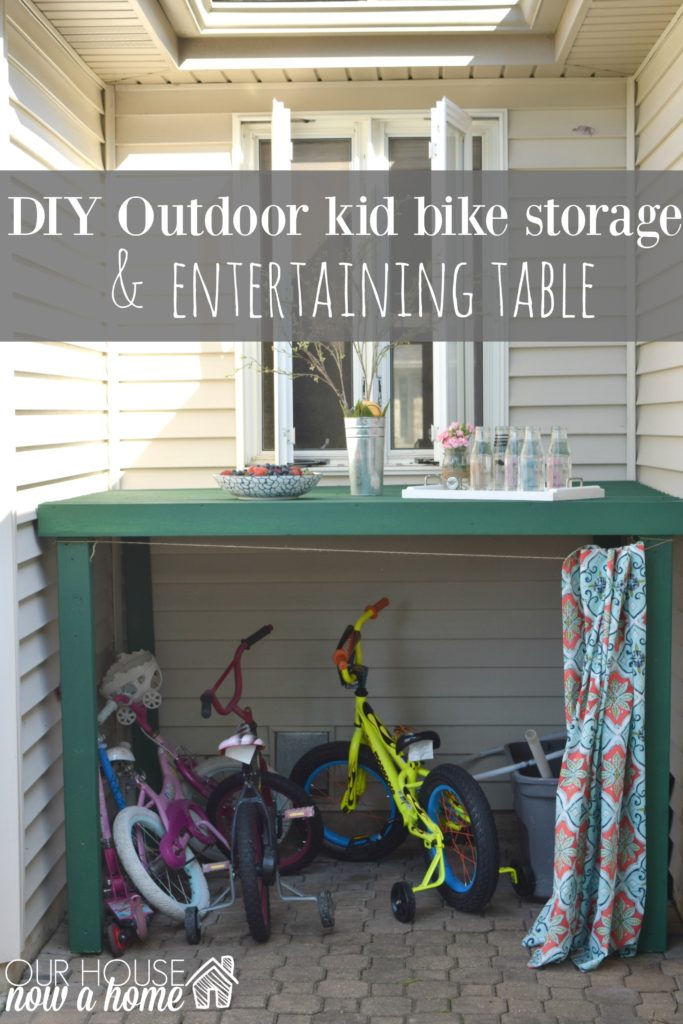 DIY outdoor bike storage
