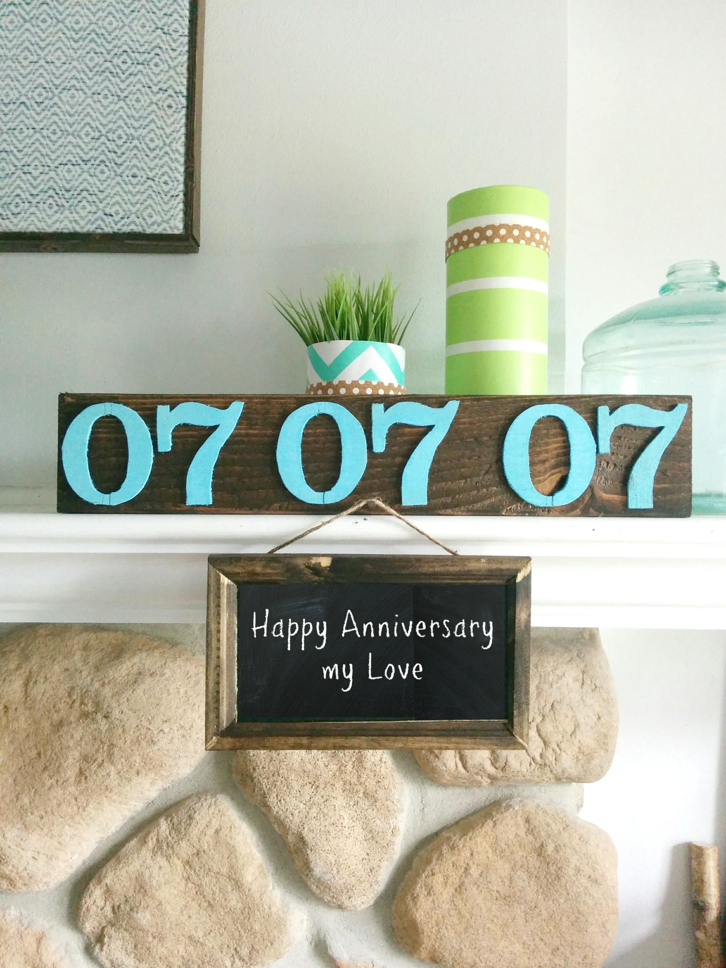 DIY and low cost anniversary gift ideas • Our House Now a Home