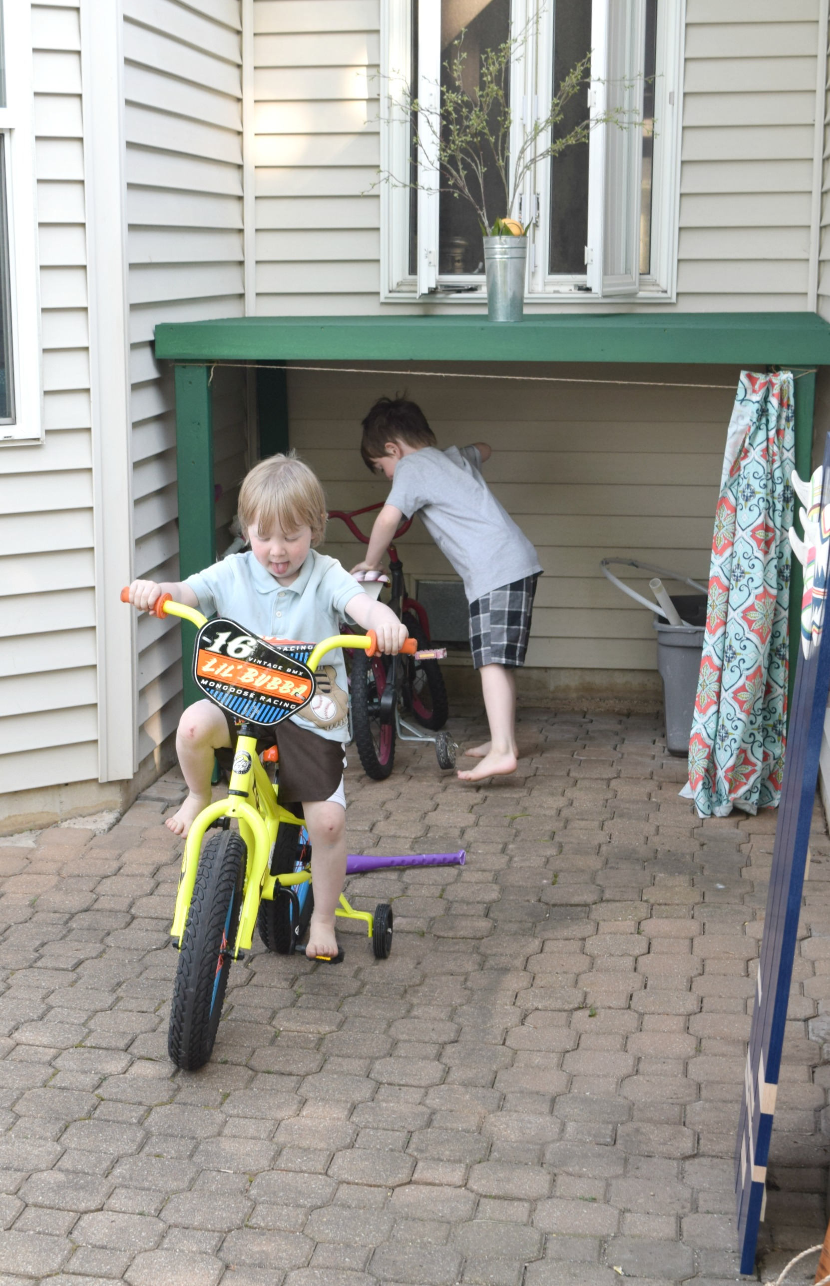How To Hide Kids Outdoor Toys A Diy Storage Solution Our House Now A Home